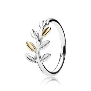 Sterling silver and gold ring PANDORA ref: 190920
