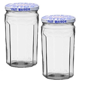 Le ParfaitガラスJam Jar Fait Maison 645ml (Pack of 2) クリア