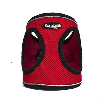 High quality Reflective Mesh Step in Harness, X-Small, Red