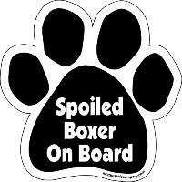 High quality Paw Car Magnet, Spoiled Boxer on Board, 5-1/2-Inch by 5-1/2-Inch