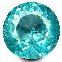アパタイト ルーズジェムストーン 0.33 ct Round Shape (4 mm) 100% Natural Un-Heated Paraiba Blue Color Brazilian...