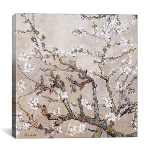 """iCanvasART 1325Almond Branches in Bloom San Remy 26"""" x 0.75"""" x 26"""" 26x26x1325"""