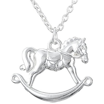 Little PonyペンダントStanding Horseネックレスfor Teen Girls Equestrian誕生日ギフトジュエリー