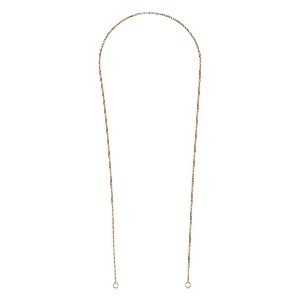 Marla Aaron 14k rose gold rolo thin chain - Unavailable