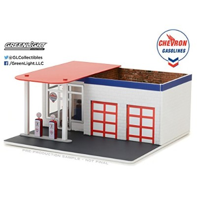 GREENLIGHT 1:64SCALE GREENLIGHT 1/64 MECHANIC'S CORNER - VINTAGE GAS STATION CHEVRON  1/64 メカニックス...