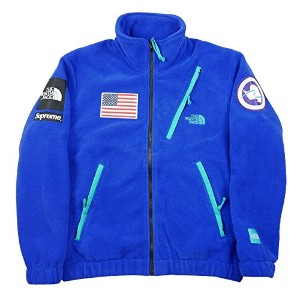 SUPREME シュプリーム ×THE NORTH FACE 17SS Trans Antarctica Expedition Fleece Jacket フリースジャケット 青 M 並行輸入品