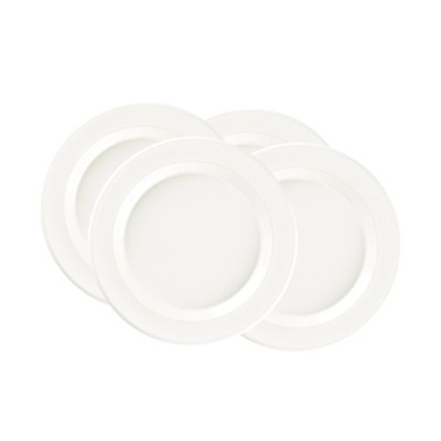 Emile Henry Made In France 20cm Salad/Dessert Plates, Set of 4, Nougat