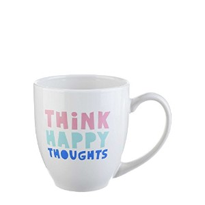 Think Happy Thoughts 16オンスコーヒーマグ