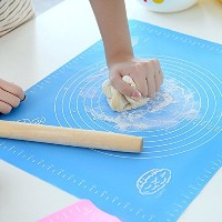 Extra Large Silicone Baking Mat for Pastry Rolling with測定値、ライナー熱抵抗テーブルマットパッドPastryボード、再利用可能なノンスティックシ...