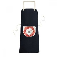 Art Painting Corn Poppy Garland Remembrance Day UK Cooking Kitchen Black Bib Aprons With Pocket for...