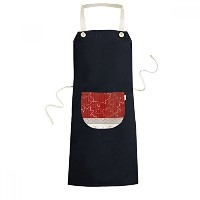 Maple Leaf Texture 4th Of July Happy Canada Day Cooking Kitchen Black Bib Aprons With Pocket for...