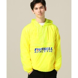 RUSSELL ATHLETIC PACKABLE ANORAK【ジョイントワークス/JOINT WORKS メンズ ブルゾン・スタジャン イエロー ルミネ LUMINE】