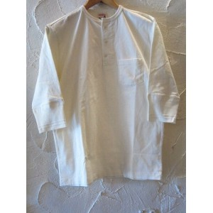 GLAD HAND(グラッドハンド)/HALF SLEEVE HENRY POCKET T WHITE