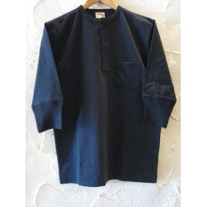 GLAD HAND(グラッドハンド)/HALF SLEEVE HENRY POCKET T BLACK