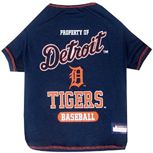 Detroit Tigers Baseball Dog Shirt Medium