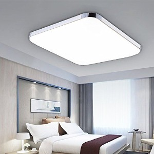 liuzhuo LED シーリングライト 天井ライト 超薄型 屋内照明 明るい 30x30cm枠付き (day white, 16W)
