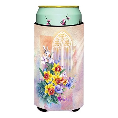 Caroline 's Treasures教会ウィンドウ& Daffodils Tall Boy Beverage Insulator Hugger ,マルチカラー