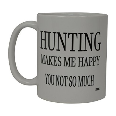 Best面白いコーヒーマグHunting makes me happy you not so muchノベルティCup Great Gift for Menハンターハント