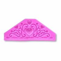 Large 7 x 3 Fairy Tale Princess Crown /ティアラシリコン金型 – Decorating and Baking Moldsからbakell (フォンダン...
