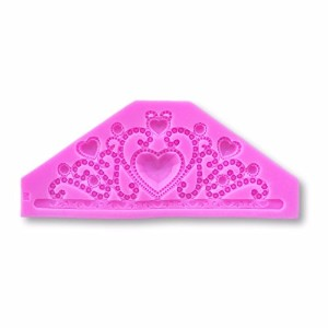 Large 7x 3Fairy Tale Princess Crown /ティアラシリコン金型–Decorating and Baking Moldsからbakell (フォンダン...
