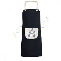 Cartoon Hat Bird Protect Animal Pet Lover Cooking Kitchen Black Bib Aprons With Pocket for Women...