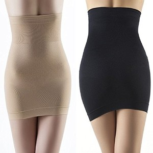 Women Slimming Body Shaper Corset Type Hip Waist Trainer Cincher Shapewear Skirt DressSize 8-10 Nude