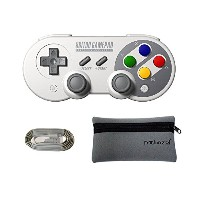 Mcbazel 8Bitdo SF30 Pro BluetoothワイヤレスコントローラーNS switch・Windows・Android・macOS・Steam用、収納袋付き