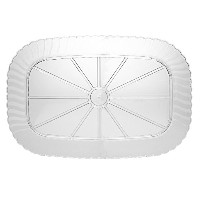 WNA 2カウントClassicware長方形Heavyweight Serving Tray、12by 18インチ、クリア