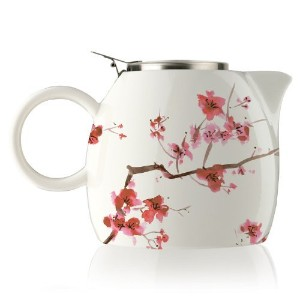 Tea Forte Pugg 24ozティーポットwith Tea Infuser , Cherry Blossoms