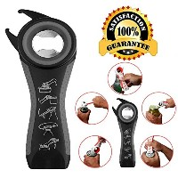 マルチボトルOpener 5 In 1 : beerrom JarボトルCan Opener、ボトルキャップグリップ、Jar Seal Breaker Claw , Beer and Soda...