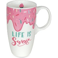 AngelStar 18091 Life Is Sweet Latte Mug、マルチカラー