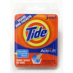 Tide Travel Sink Packets (6) by Cotton Buds