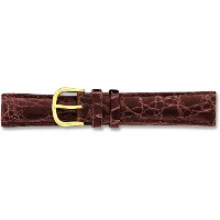 De beer brown genuine crocodile leather watch band 12 mm
