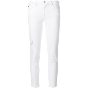 7 For All Mankind スキニージーンズ - ホワイト
