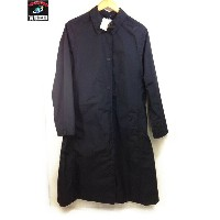 UNIQLO AND LEMAIRE (M) Nylon Long Coat ナイロン ロングコート ブラック【中古】