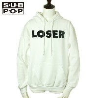 "SUB POP HOODED SWEAT SHIRTS ""LOSER"" / WHITE"