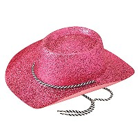 Bristol Novelty Cowboy Hat. Glitter Pink. Hats Womens One Size