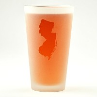 New Jersey State Engraved Pint Glass