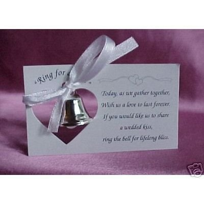 Silver Wedding Mini Bell Decorations Favors (Set of 100) by All in One Weddings