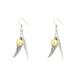 accessorisingg HP Golden Snitch andシルバー翼イヤリング[ er031 ]