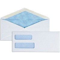 Business Source BSN36680 Double Window Envelopes- No. 9- 3-.88in.x8-.88in.- White