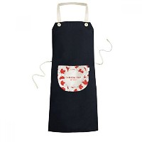 4th Of July Maple Leaf Happy Canada Day Cooking Kitchen Black Bib Aprons With Pocket for Women Men...
