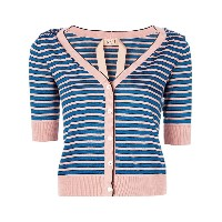 No21 striped cardigan - マルチカラー