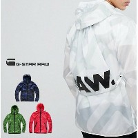 G-STAR RAW【 ジースターロウ 】STRETT HDD OVERSHIRT GYMBAG JACKETG-Star Strett All Over Print Anorakナップサック...