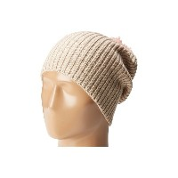 ハットアタック レディース 帽子 ニット【Lightweight Rib Watch Cap with Knit Pom】Oat/Light Pink