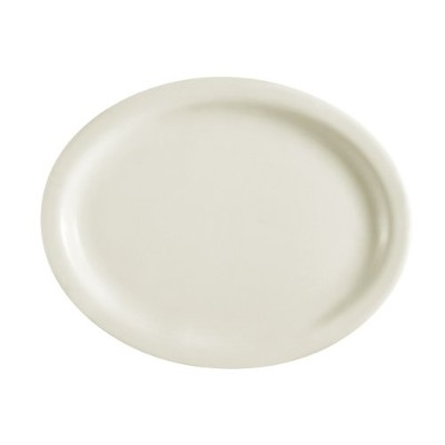 CAC中国Narrow Rim Oval Platter 13-1/2-Inch by 10-1/2-Inch ホワイト NRC-27