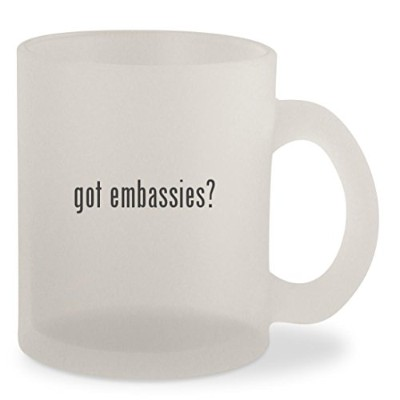 Got Embassies ?–Frosted 10ozガラスコーヒーカップマグ