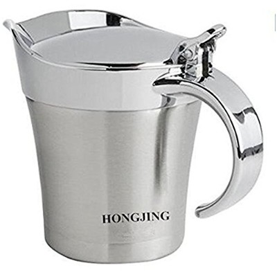 HONGJING Stainless Steel Double Insulated Gravy Boat/Sauce Jug - with Hinged Lid & 500ml Capacity...