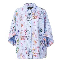 Vivienne Westwood Anglomania printed style shirt - ブルー