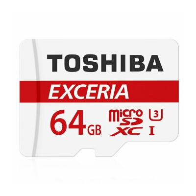 64GB microSDXCカード マイクロSD TOSHIBA 東芝 EXCERIA CLASS10 UHS-I R:90MB/s SDアダプタ付 海外リテール THN-M302R0640A2 ◆メ